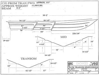 donzi boat trailer specifications XTERRA