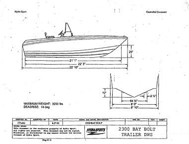 hydrasport boat trailer specifications XTERRA