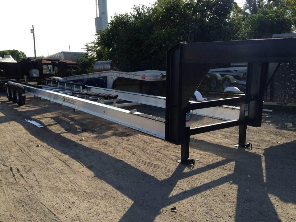 Goose-neck boat trailers in Miami - XCALIBUR Trailers